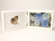 Memorial Photo Frame(Preserved Flower)