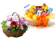 Deluxe Fruits & Sweets & Natural Basket