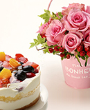 Flower & Cake-4Berries-
